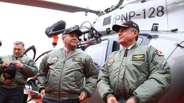 Helicópteros de PNP solo se usarán en emergencias por alto costo de vuelo