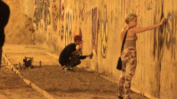 Justin Bieber fue denunciado por pintar un graffiti en Brasil