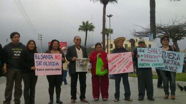 Chimbote: rechazan ratificación de Martha Chávez como coordinadora de DD.HH.