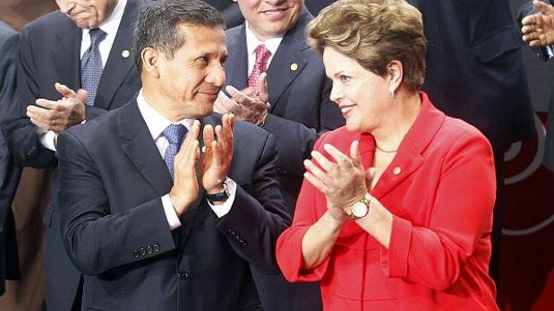 Humala y Rouseff firmarán acuerdos en las áreas de comunicaciones, medio ambiente y laboral