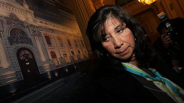 Elección de Martha Chávez como coordinadora de grupo de DD.HH. fue inválida
