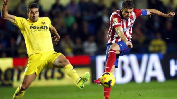 Atlético de Madrid empató 1-1 con Villareal y no pudo mantenerse a un punto del Barcelona