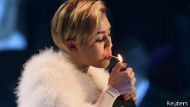 """El """"cigarrillo"""" de Miley Cyrus eclipsó los dos MTV Europa de Eminem"""