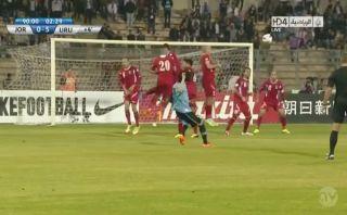 Este golazo de Edinson Cavani selló el 5-0 de Uruguay sobre Jordania [VIDEO]