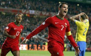 Portugal clasificó a Brasil 2014 con triplete de Cristiano