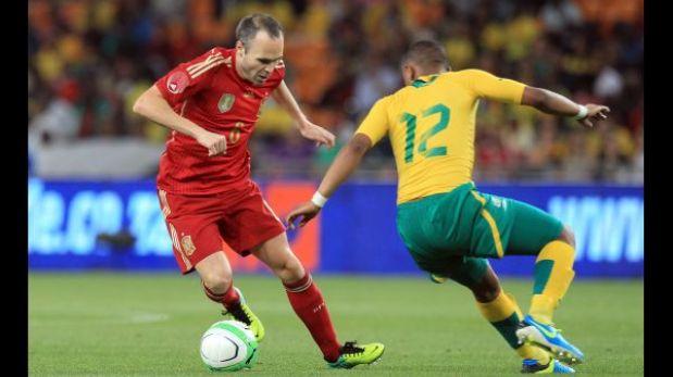 España perdió 1-0 ante Sudáfrica en el estadio donde fue campeón del mundo