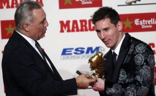 Lionel Messi es el primer futbolista en recibir tres Botas de Oro