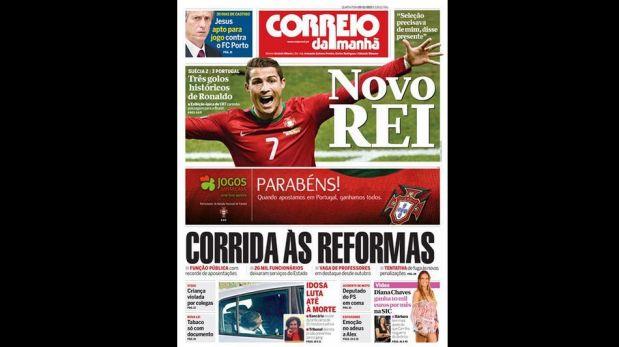 Así tituló la prensa de Portugal sobre el protagonismo de Cristiano en la clasificación de su selección al Mundial [FOTOS]