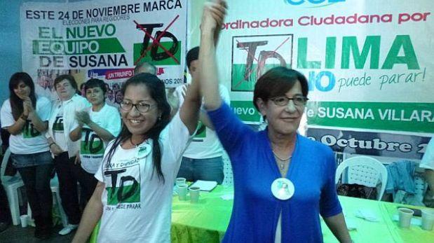 Aliados de Susana Villarán fueron retirados de lista de candidatos