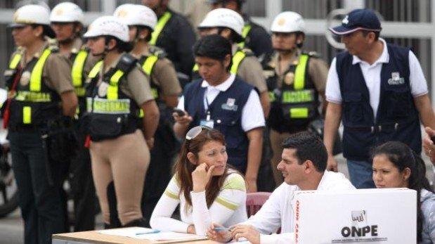 Elecciones en Lima: 7.400 policías custodiarán los locales de votación