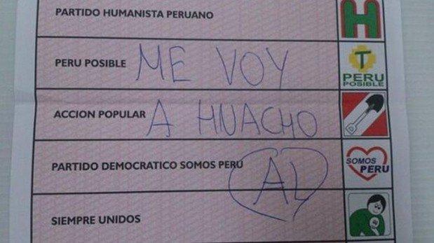 Elecciones en Lima: fotos de cédulas con votos viciados son mostradas en redes sociales