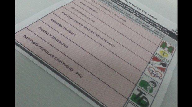 Elecciones para regidores: ¿Por qué la cédula de votación no tenía sticker?