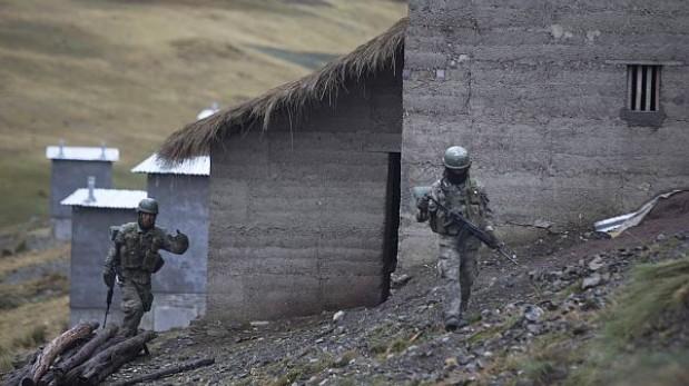 Dos narcotraficantes con armas de guerra fueron detenidos en el Vraem