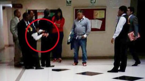 Miguel Chehade fue trasladado enmarrocado a carceleta del Poder Judicial