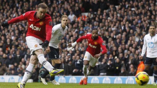 Manchester United empató de visita 2-2 con Tottenham con doblete de Rooney