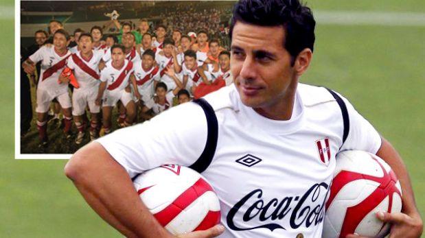 Claudio Pizarro felicitó a la Sub 15 por el título del Sudamericano
