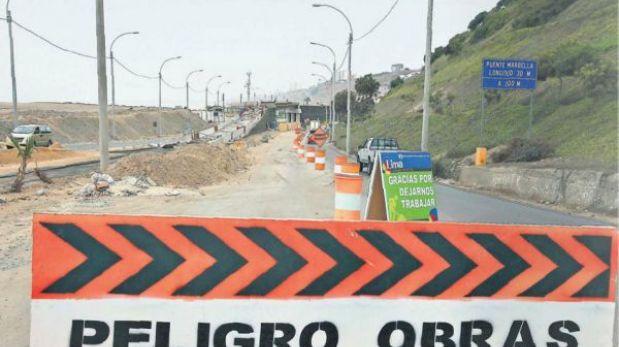 La Costa Verde será una zona de obras durante el verano