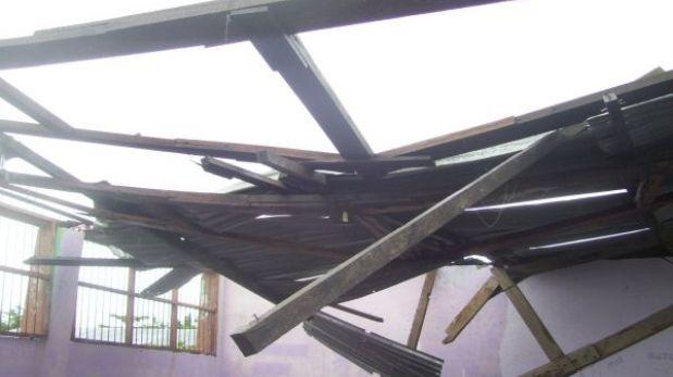 Fuertes vientos afectaron viviendas en Ucayali, San Martín y Amazonas