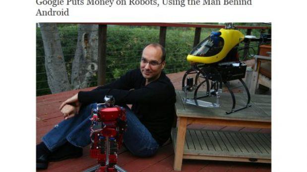 El creador de Android desarrollará robots para Google