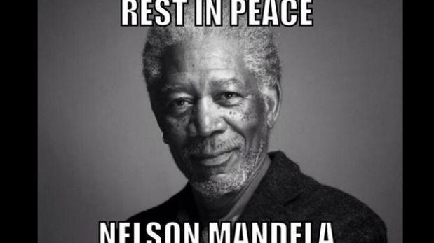 Tuiteros confunden a Nelson Mandela con Morgan Freeman