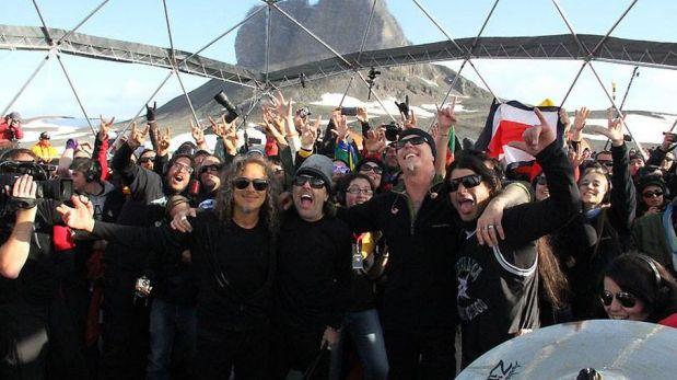 Metallica ofreció por primera vez un concierto en la Antártida [FOTOS]