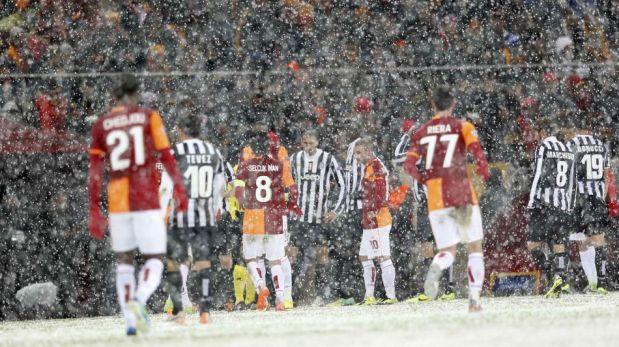 Galatasaray-Juventus: duelo suspendido por la nieve fue reprogramado para mañana