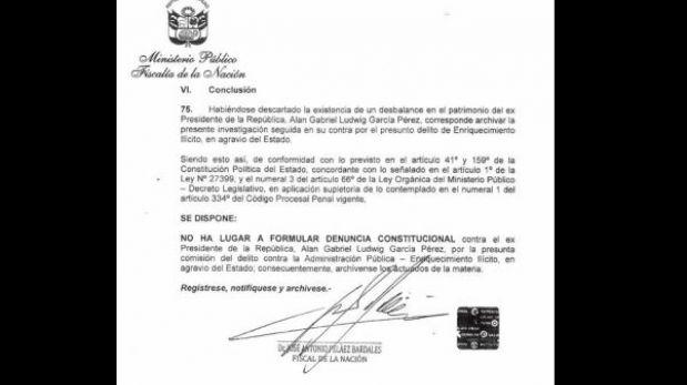"""Alan García: """"Entregué mi vida al Perú sin ningún interés material, entiéndanlo"""""""