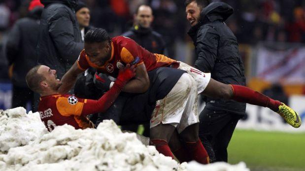 Galatasaray eliminó a Juventus en la Champions League y celebró como si fuera campeón [FOTOS]