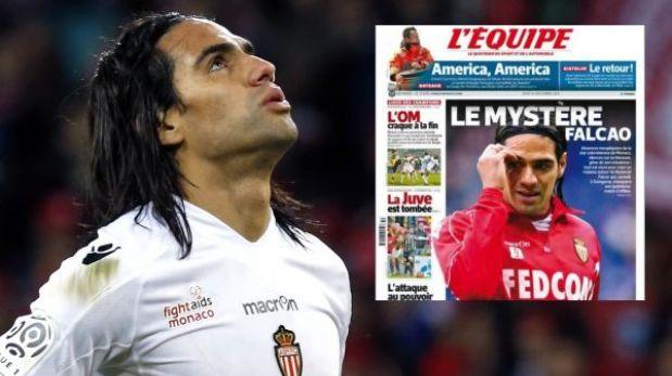Prensa francesa pone en duda la lesión de Radamel Falcao en el Mónaco