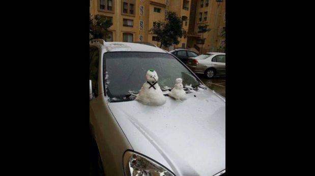 Inusual nevada sobre El Cairo sorprende a los egipcios [FOTOS]