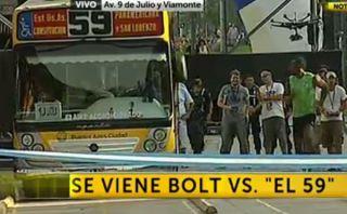 La decepcionante carrera que ganó Usain Bolt al Metrobus de Argentina