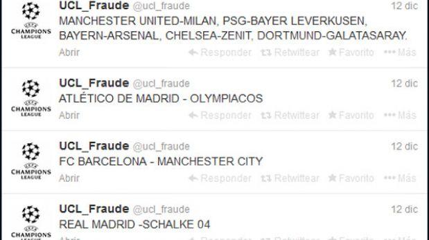 ¿Fraude en la Champions League?: cuenta de twitter anunció cruces de octavos antes del sorteo