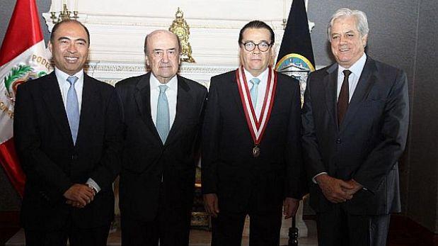 Nuevos directores del BCR juramentaron ante presidente del Poder Judicial
