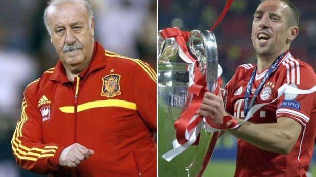 Vicente del Bosque votó por Franck Ribéry para el Balón de Oro