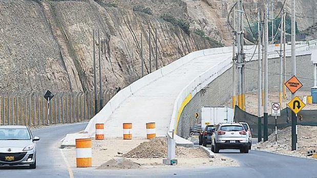 Costa Verde: nuevos puentes vehiculares funcionarán desde la próxima semana