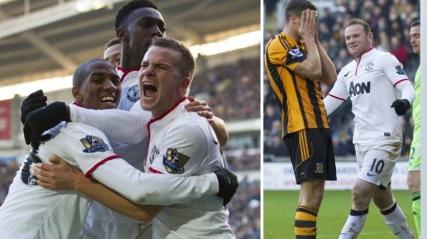 Manchester United remontó un partido increíble y ganó 3-2 al Hull City