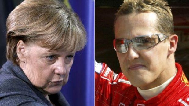"""Angela Merkel expresó su """"profunda conmoción"""" por el accidente de Schumacher"""