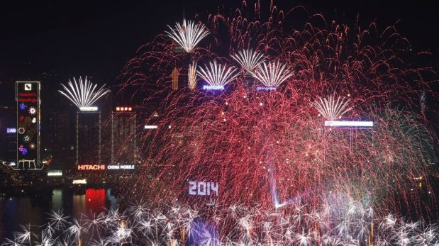 El 2014 ya llegó al otro lado del mundo y así lo celebran [FOTOS]