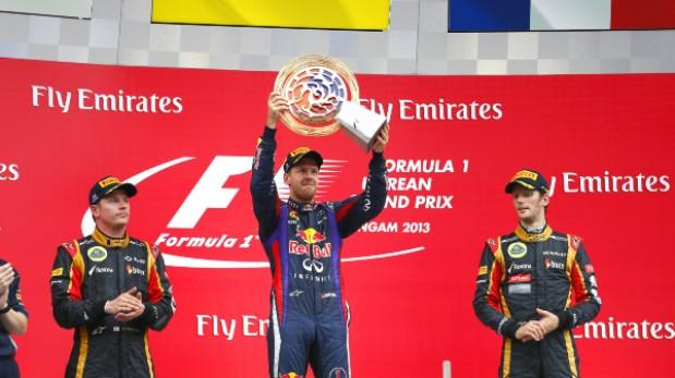 Vettel gana en Corea y acaricia el título
