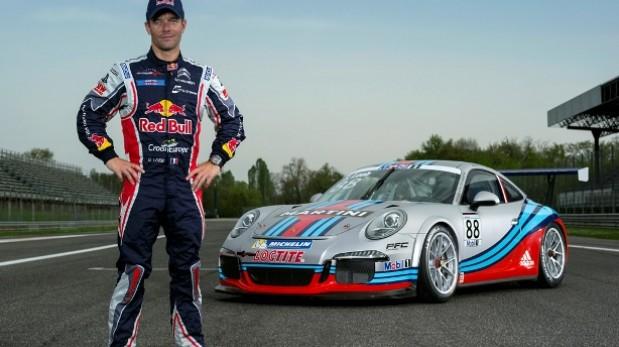 Ogier y Loeb en la Porsche Mobil 1 Supercup