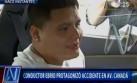 Chofer totalmente ebrio protagonizó escándalo tras chocar auto