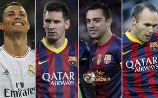 ¿Qué une desde el 2009 a Cristiano, Messi, Xavi e Iniesta?