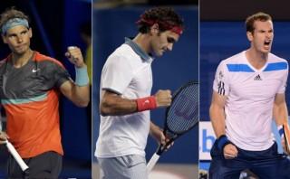Nadal, Federer y Murray avanzan en el Abierto de Australia
