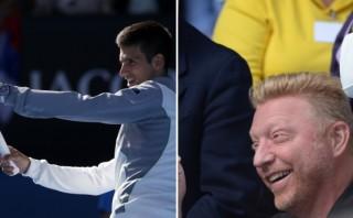 Djokovic imitó a su nuevo entrenador Boris Becker