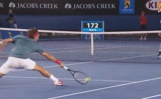 Federer y el fenomenal 'globo' que dejó atónito al público