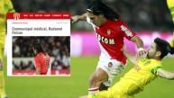 Radamel Falcao será operado de la rodilla, confirmó club Mónaco