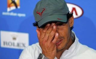 Rafael Nadal se contuvo de llorar ante los periodistas