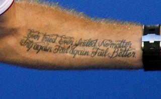 Wawrinka y el tatuaje motivador del campeón de Australia