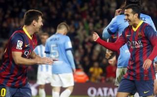 Barcelona goleó 3-0 al Málaga y salvó una semana crítica