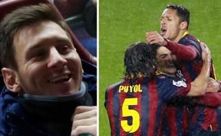 Barcelona goleó 5-1 al Levante y dejó a Messi en banca
